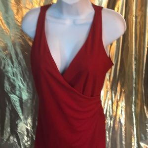 Express red wrap dress size 7-8